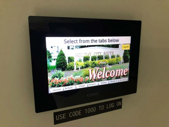 Holiday City South Touch Panel