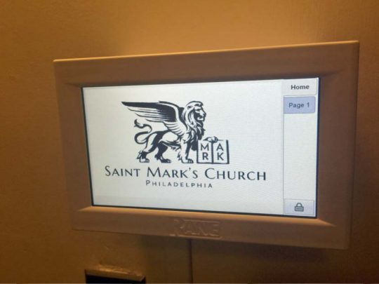 Saint Marks Church Sound System Touch Screen