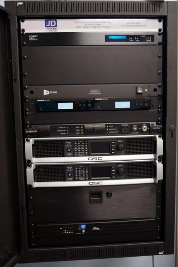 Kingsway High School Gym Sound System Rack