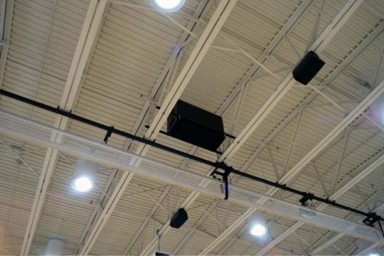 Kingsway High School Gym Subwoofer