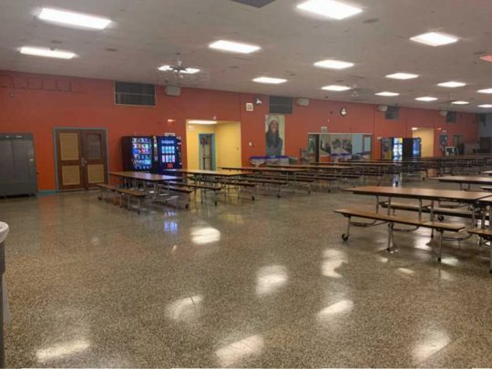 Cherry Hill East High School Cafeteria Sound System